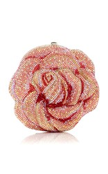 Judith Leiber Couture Apricot Rose Clutch Pink