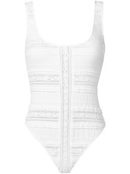 Cinq A Sept Maude Bodysuit Women Cotton Nylon Spandex Elastane S White