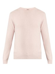 A.P.C. Ringo Crew Neck Wool And Cashmere Blend Sweater Pink