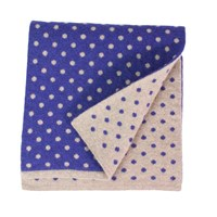 40 Colori Beige Petrol Blue Dotted Wool And Cashmere Scarf