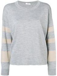 Peserico Loose Fit Pullover Grey