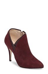Klub Nico Women's Royal Pointy Toe Bootie Wine Nubuck Leather