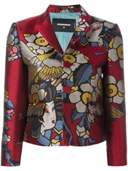 Dsquared2 'Blossom' Fitted Jacket