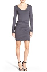 Women's Velvet By Graham And Spencer Ruched Long Sleeve Body Con Dress