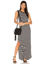 The Great Knotted Tee Dress Black And White