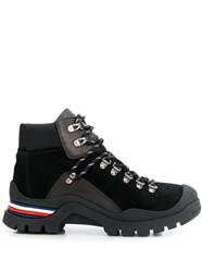Tommy Hilfiger Leather Lace Up Ankle Boots Black