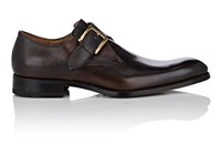 Harris Burnished Leather Monk Strap Shoes Brown