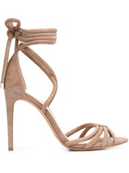 Alexandre Birman 'New Cindy' Sandals Nude And Neutrals