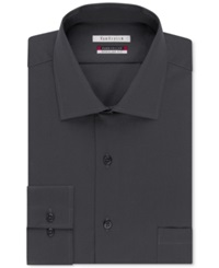 Van Heusen Tek Fit Flex Collar Solid Dress Shirt Charcoal