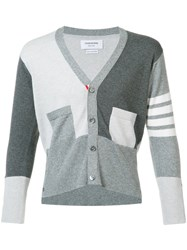 Thom Browne Buttoned Detail Cardigan Grey