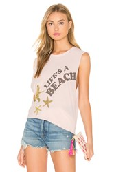 The Laundry Room Life's A Beach Tank Pink