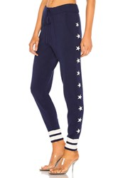 Equipment Elise Star Intarsia Track Pant Navy