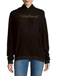 Wildfox Couture Gold Foil Pullover Hoodie Jet Black