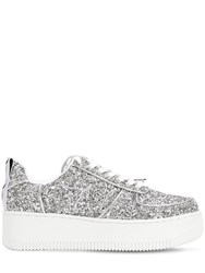 Windsor Smith 50Mm Rosine Glittered Sneakers Silver