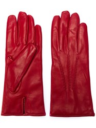 Joseph Hand Stitched Gloves Red
