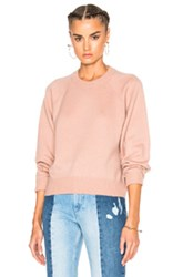 Alexander Wang T By Cashmere Crew Sweater In Pink