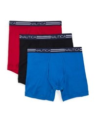 Nautica Three Pack Cotton Boxer Briefs Nautica Red
