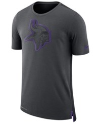 Nike Men's Minnesota Vikings Travel Mesh T Shirt Anthracite