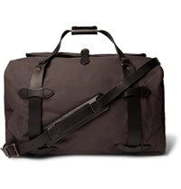 Filson Leather Trimmed Twill Duffle Bag Gray