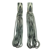 Peculiar Vintage Jewellery Curio Wishbone Tassel Earrings Silver