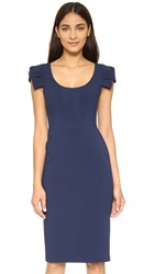Black Halo Amelie Sheath Dress Pacific Blue