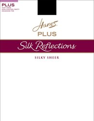 Hanes Silk Reflections Non Control Top Satin Finish Jet