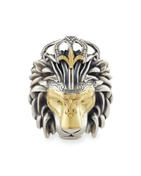 Men's Minos Sterling Silver And Gold Lion Head Pendant Konstantino Sterling Silver G
