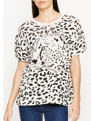 Wildfox Couture Cheeta Babe Leopard T Shirts Off White