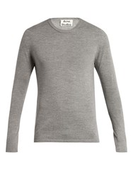 Acne Studios Kort Merino Wool Sweater Light Grey