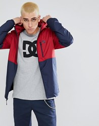 Dc Shoes Dagup Lightweight Jacket With Colour Block Red