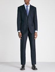 Gieves And Hawkes Regular Fit Wool Blend Three Piece Suit Dark Navy
