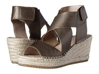 Eileen Fisher Willow Bronze Metallic Leather Wedge Shoes