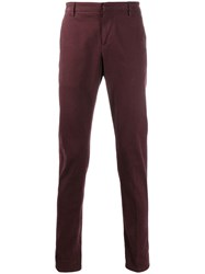 Dondup Slim Fit Chinos Red