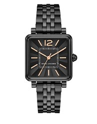 Marc Jacobs Vic Ion Plated Stainless Steel 5 Link Bracelet Analog Watch Black