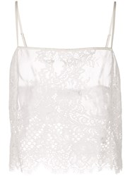 Fleur Du Mal All Over Lace Cami White