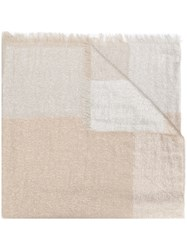 Peserico Panelled Scarf Neutrals