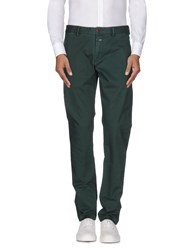 Closed Trousers Casual Trousers Men Emerald Green