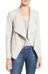 Bb Dakota Women's 'Kenrick' Drape Neck Leather Jacket Bone