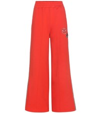Tommy Hilfiger Cotton Track Pants With Applique Red