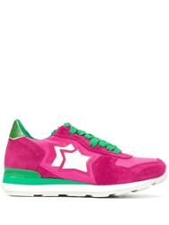 Atlantic Stars Star Patch Sneakers Pink