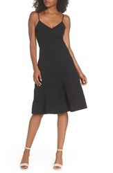 Adelyn Rae Sydney Fit And Flare Dress Black