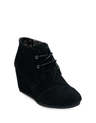 Toms One For One Desert Wedge Lace Up Suede Booties