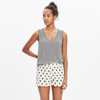 Madewell San Diego Cover Up Shorts In Strokedash