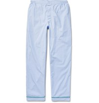 Sleepy Jones Marcel End On End Cotton Pyjama Trousers Blue