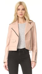 Mackage Baya Sleek Leather Jacket Petal