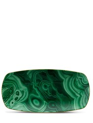 L'objet Malachite Medium Rectangular Tray