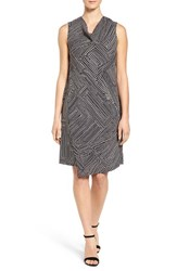 Nic Zoe Women's Diamond Dot Asymmetrical Overlay Shift Dress