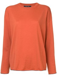 Sofie D'hoore Contrast Edged Sweater Yellow And Orange