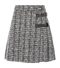 Alexander Mcqueen Tweed Pleated Skirt Female Grey