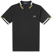 Fred Perry Authentic Abstract Tipped Polo Black